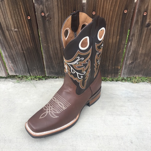 Men/'s New TW Ostrich Design Leather Cowboy Western Rodeo  J Toe  Boots Brown